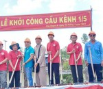 CLB MANDALA PHONG THỦY đã làm lễ động thổ khởi công xây cầu Kênh 1/5